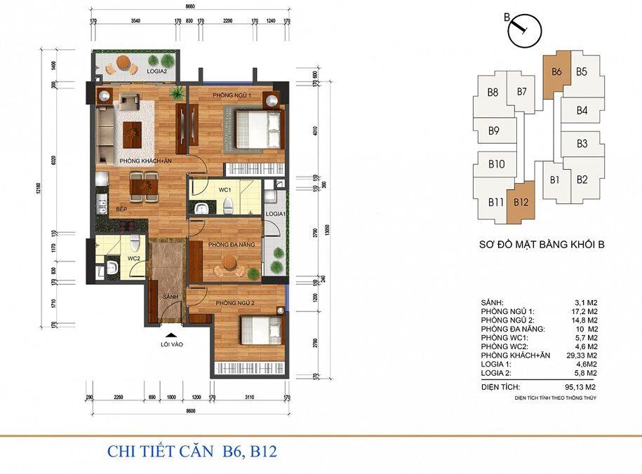 Mặt bằng thiết kế căn hộ dự án Thống nhất Complex